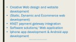 creative web design and website development