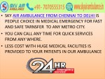 sky air ambulance from chennai to delhi is people
