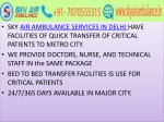 sky air ambulance services in delhi have