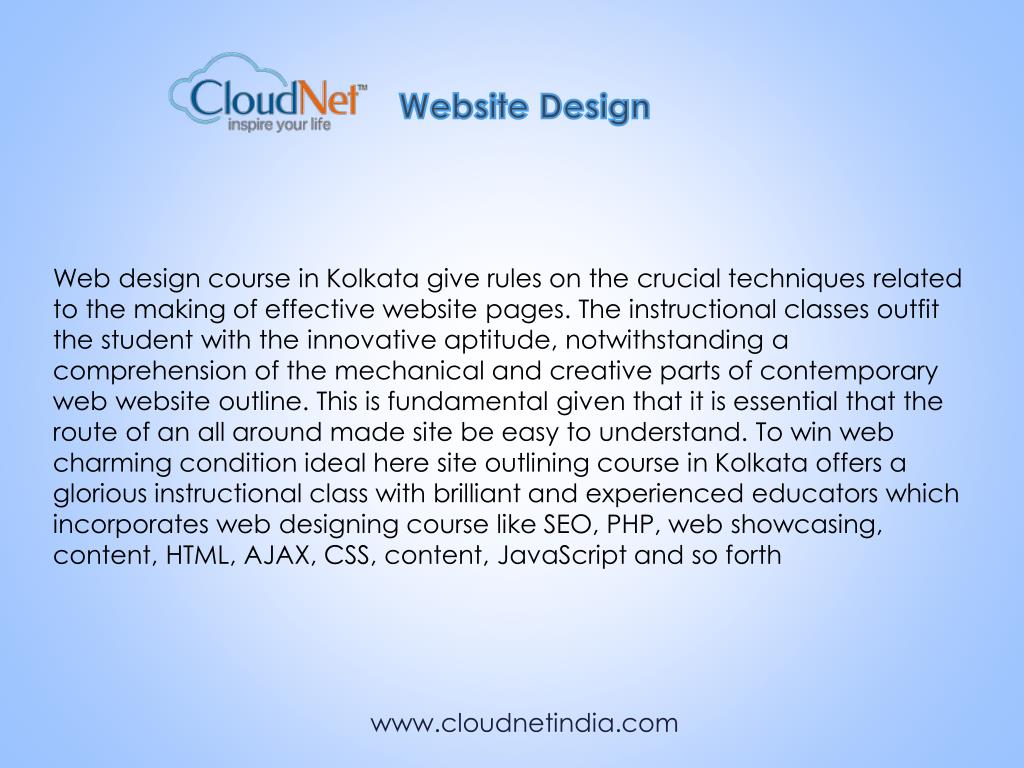 Ppt Web Design Certification Course In Kolkata A Cloudnet Powerpoint Presentation Id 7796412