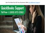 get the most out of your business with quickbooks support