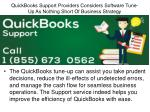 quickbooks support providers considers software tune up as nothing short of business strategy