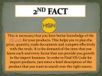 2 nd fact