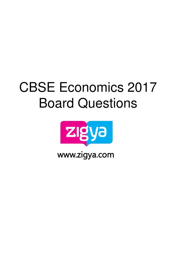 cbse economics 2017 board questions n.