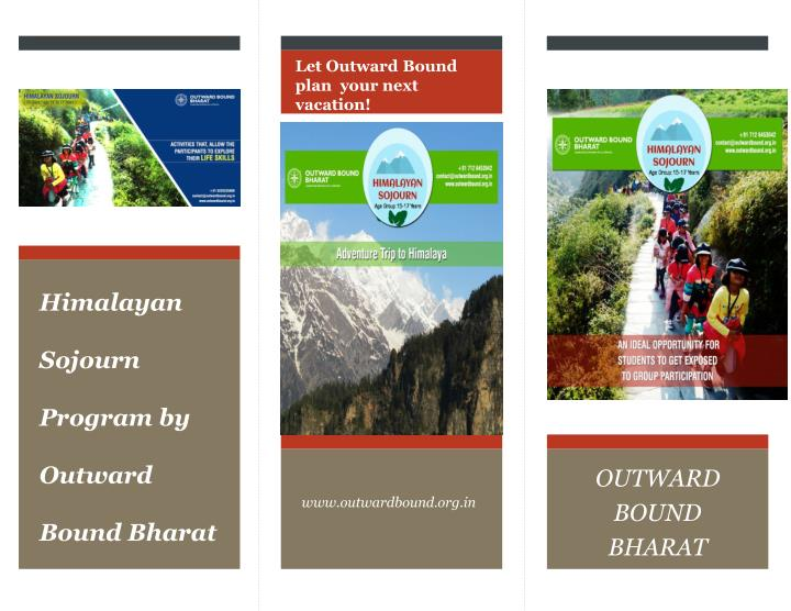 himalayan sojourn program by outward bound bharat n.
