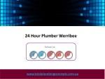 24 hour plumber werribee 1