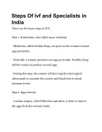 steps of ivf and specialists in india