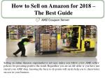 how to sell on amazon for 2018 the best guide