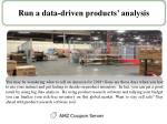 run a data driven products analysis