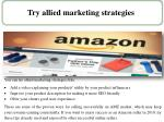 try allied marketing strategies