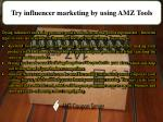 try influencer marketing by using amz tools