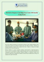 bariatric surgery can help you come off insulin