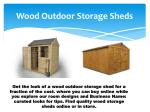 wood outdoor storage sheds