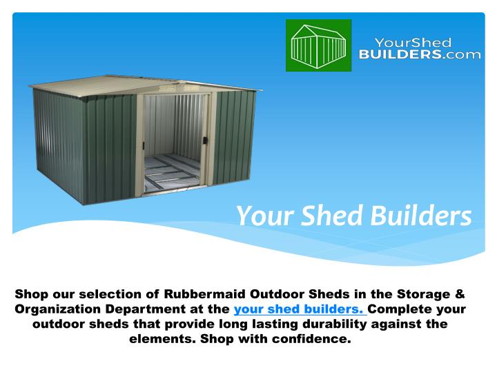 your shed builders n.