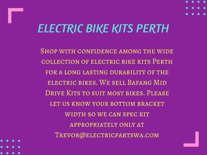 electric bike kits perth n.