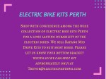electric bike kits perth