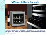 wine chillers for sale