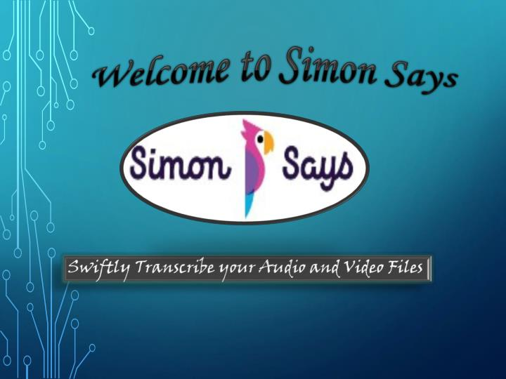 welcome to s imon s ays n.