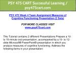 psy 475 cart successful learning psy475cart com 13