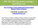 psy 475 cart successful learning psy475cart com 7