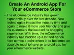 create an android app for your ecommerce store 2