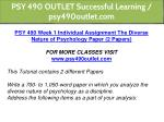 psy 490 outlet successful learning psy490outlet 4