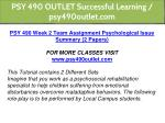 psy 490 outlet successful learning psy490outlet 8