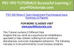psy 490 tutorials successful learning 8