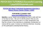 psych 500 tutorials successful learning 15