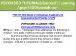 psych 500 tutorials successful learning 7