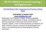 crj 422 genius successful learning crj422genius 13