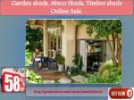 garden sheds absco sheds timber sheds online sale 1