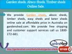 garden sheds absco sheds timber sheds online sale