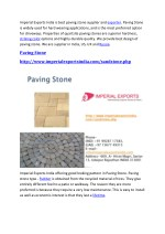 imperial exports india is best paving stone