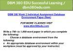 dbm 380 edu successful learning dbm380edu com 16