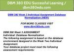 dbm 380 edu successful learning dbm380edu com 24