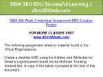 dbm 380 edu successful learning dbm380edu com 26