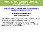 dbm 380 edu successful learning dbm380edu com 27