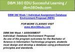 dbm 380 edu successful learning dbm380edu com 8