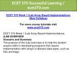 ecet 370 successful learning ecet370 com 2