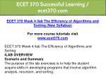 ecet 370 successful learning ecet370 com 8