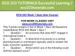 eco 203 tutorials successful learning 4