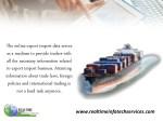 the online export import data serves as a medium