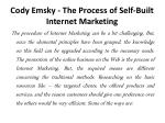 cody emsky the process of self built internet marketing 1
