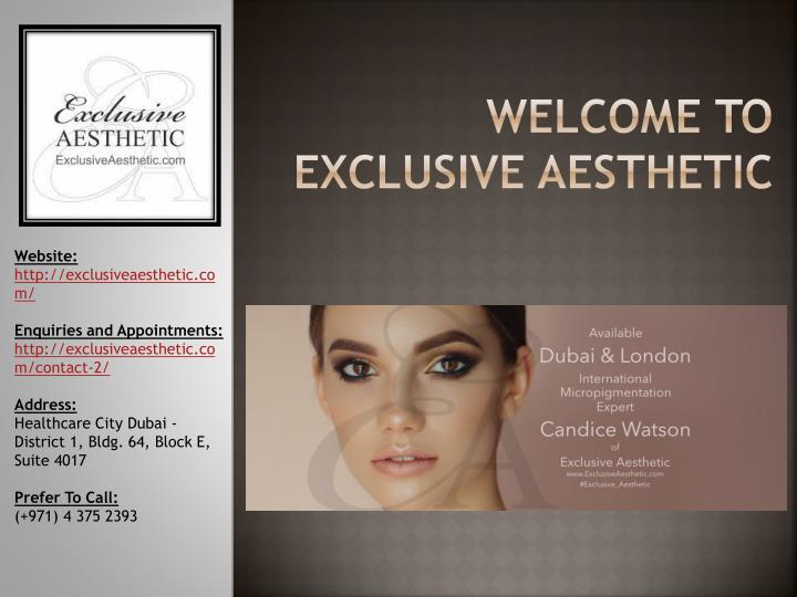 welcome to exclusive aesthetic n.