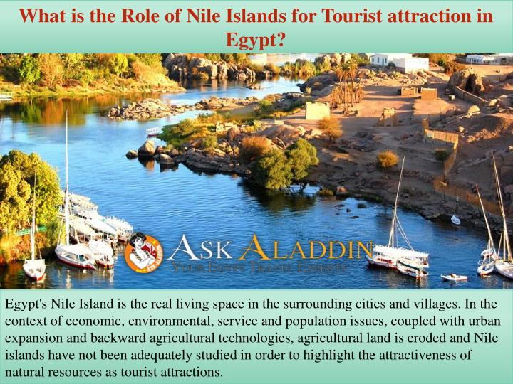 what is the role of nile islands for tourist n.