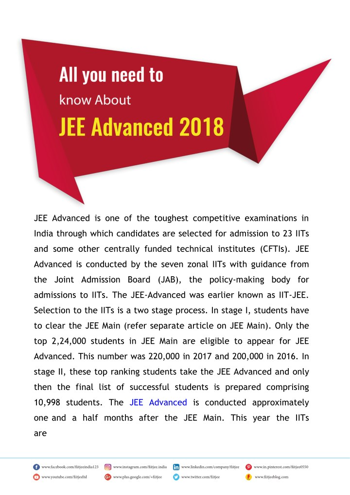 jee advanced is one of the toughest competitive n.
