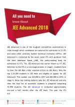 jee advanced is one of the toughest competitive