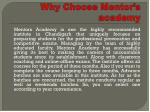 why choose mentor s academy