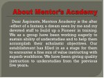 dear aspirants mentors academy is the after